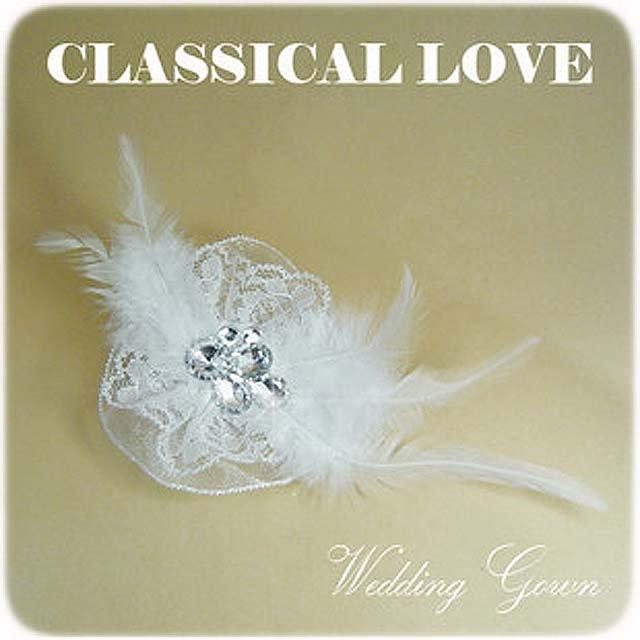 Bridal Feather Lace rhinestone clip tiara BA139