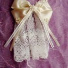 Bridal Flower girl Bow Lace Ivory Hair Barrettes HR104