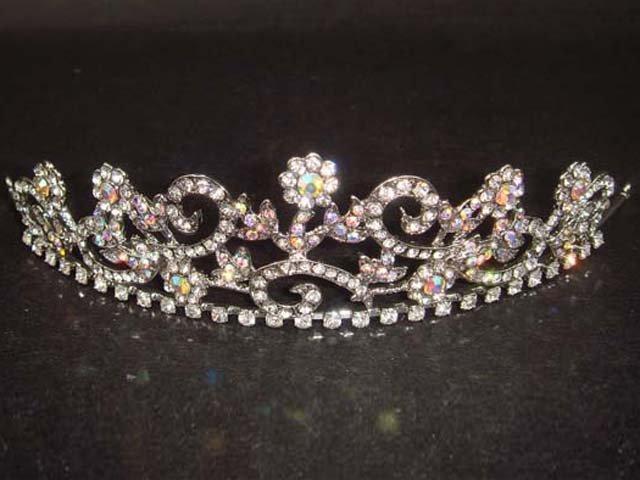 Bridal Rhinestone crystal crown tiara Headband HR91