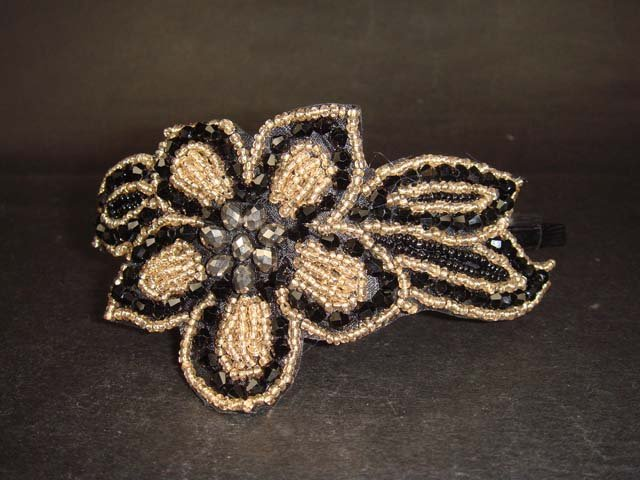 Flower Crystal bead Rhinestone tiara Headband HR112