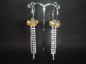 Bridal 3 row Chandelier Rhinestone Earring ER103