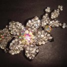 Bridal Crystal flower Rhinestone Brooch pin PI252
