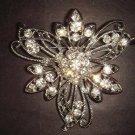 Bridal Crystal Vintage Rhinestone Brooch pin Pi178