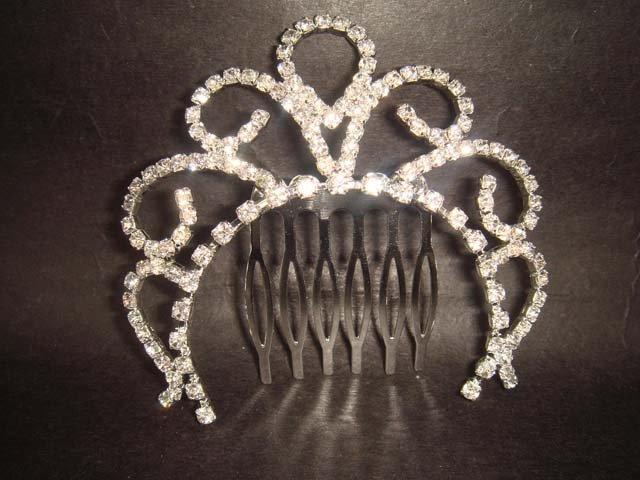 Bridal Rhinestone Crystal Flower Hair tiara Comb RB415