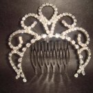 Bridal Rhinestone Crystal Flower Hair tiara Comb RB415