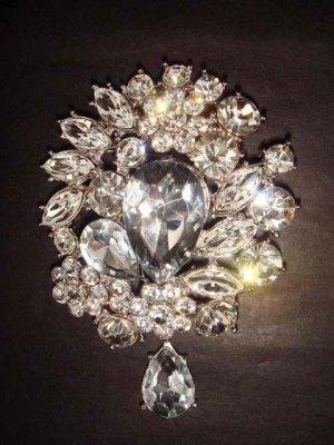 Bridal Dress Vintage style Rhinestone Brooch pin PI260