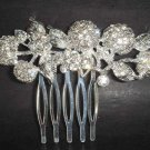 Bridal Rhinestone leaf Crystal Hair tiara Comb RB116