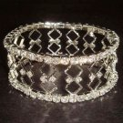 Bridal Crystal Rhinestone Bangle rhombus Bracelet BR157