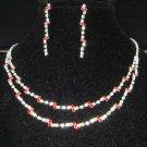 Bridal Rhinestone Earring necklace gift Set NR174