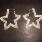 2 row Bridal Star Cystral hoop Rhinestone Earring ER167