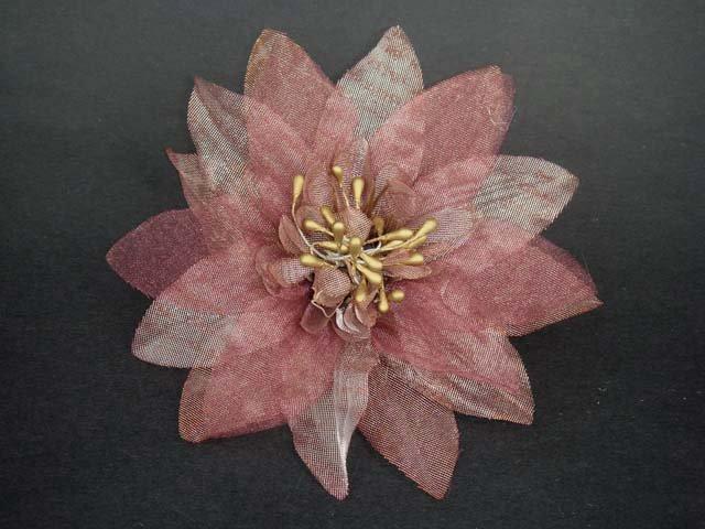 "Wedding Prom Party Organza silk flower pin clip 5"" BA22"