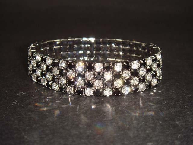 4 row Bridal Crystal Rhinestone Bracelet BR110