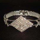 Bridal rhombus Rhinestone Bangle Bracelet Cuff BR182
