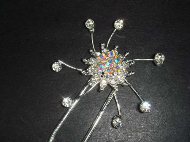 Bridal Crystal rhinestone Hairpin hair pin BH198