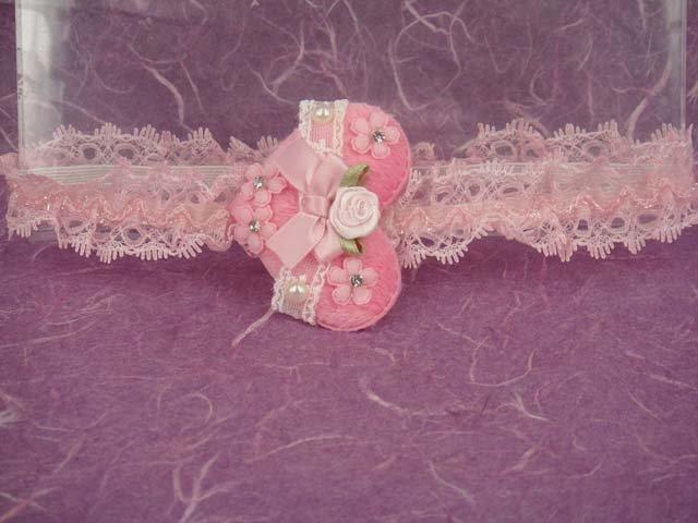 Bridal Flower girl Heart Lace Rhinestone Headband HR100