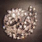 Bridal dress Vintage style Rhinestone Brooch pin Pi332