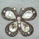 Bridal Butterfly Crystal Rhinestone Brooch pin PI138