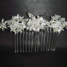 Bridal Crystal Rhinestone Flower Hair tiara Comb RB397