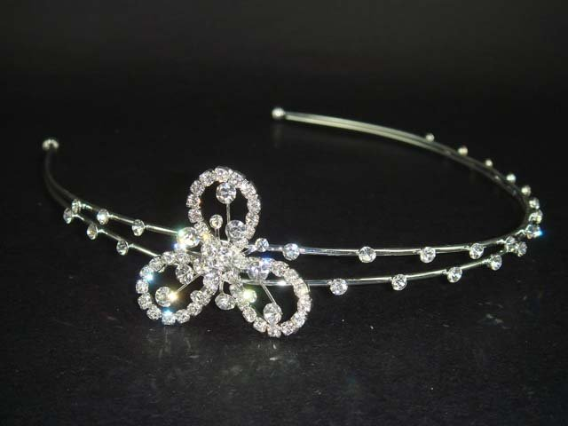 Wedding Flower Crystal Rhinestone Headband Tiara HR38