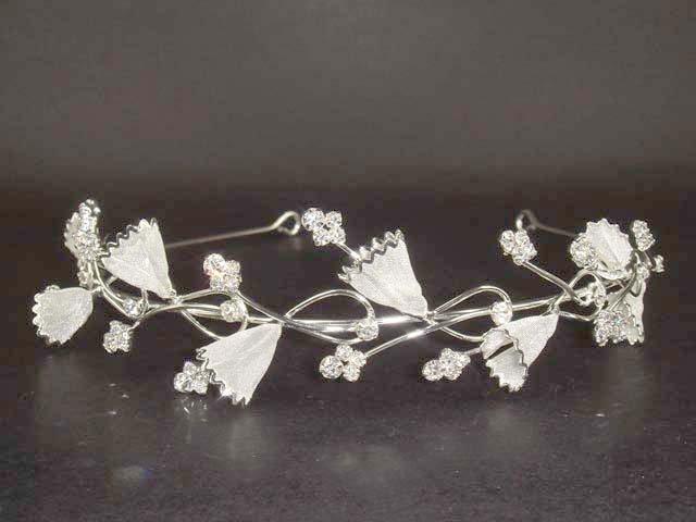 Wedding Crystal Flower Rhinestone Headband Tiara HR33