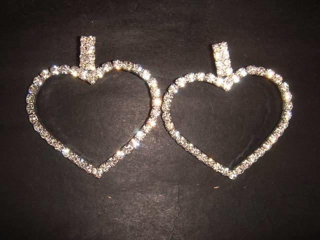 Bridal Rhinestone Heart Crystal stud Earring ER155
