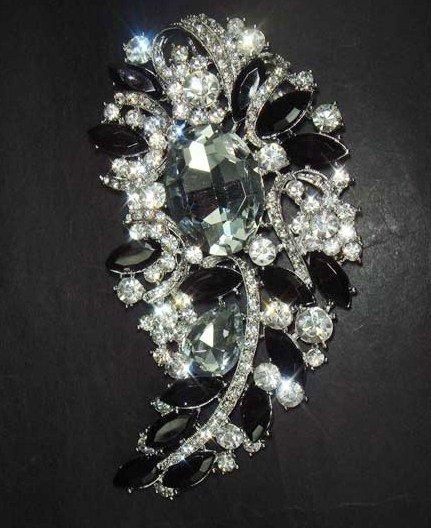Bridal dress vintage style Rhinestone Brooch pin Pi291