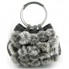 Wedding Party Rabbit Fur Shoulder bag Purse handbag LB9