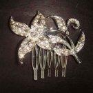Bridal Rhinestone Crystal Flower Hair tiara Comb RB340