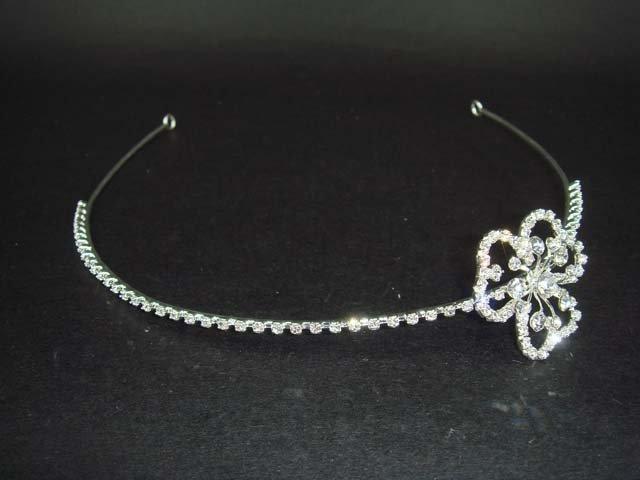 Bridal Flower crystal hair bling tiara Headband HR39