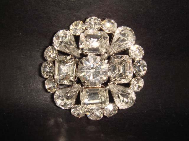 Bridal Vintage Style Rhinestone Brooch pin PI231