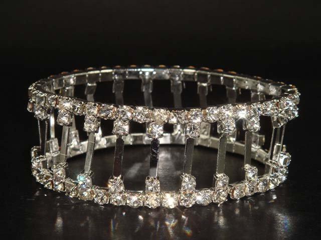 Stretch Bridal Crystal Rhinestone Bangle Bracelet BR58