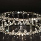 Stretch Bridal Crystal Rhinestone Bangle Bracelet BR58