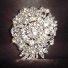 Bridal vintage style Rhinestone Brooch pin PI236