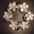Bridal Wreath Flower bling Rhinestone Brooch pin Pi208