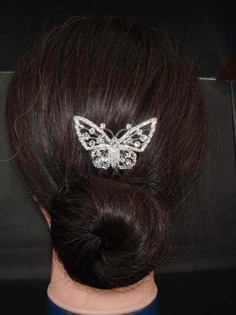 New Bridal Rhinestone Butterfly Hairpin Hair Pin RP66