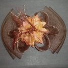 Bridal Feather Hair Flower Fascinator tiara Clip BA140