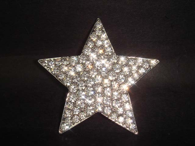 Bridal Star crystal Rhinestone Brooch pin Pi184