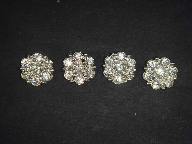 4 sewing Crystal  Rhinestone clasp hook button BN14