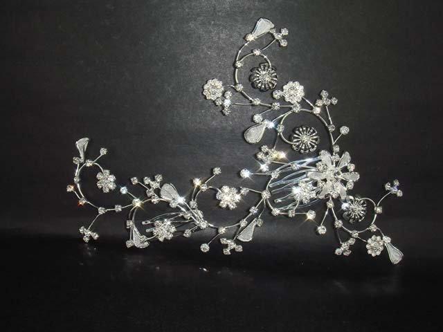 Bridal Rhinestone Crystal Wedding Hair tiara Comb RB201