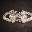 Jewel repair vintage style crystal Rhinestone clasp hook buckle button BU44