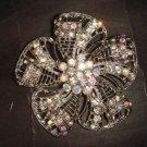 Bridal Flower vintage style Rhinestone Brooch pin Pi405