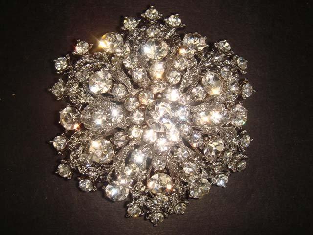 Bridal Cake topper crystal Rhinestone Brooch pin Pi196