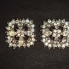 2 pc Bridal dress rhombus square Rhinestone button BN19