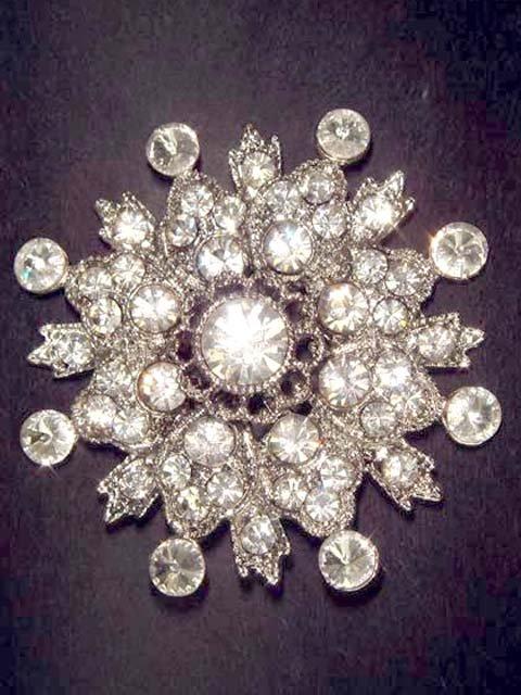 Bridal Wedding Vintage style Rhinestone Brooch pin PI59