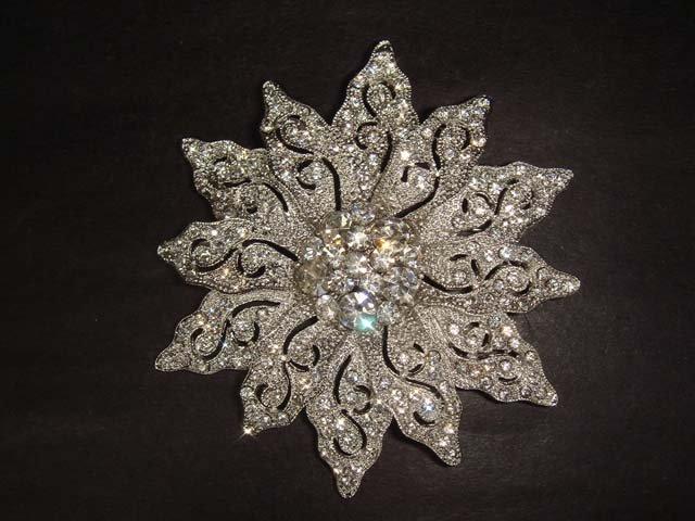Bridal dress Vintage style Rhinestone Brooch pin PI278