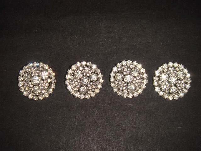 4 sew Crystal Dress Rhinestone clasp hook button BN20