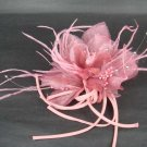 Bridal Feather Fascinator Hair flower pin clip BA98