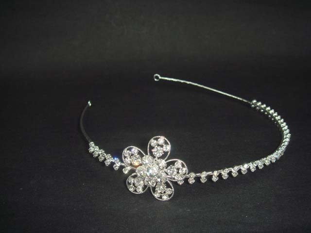 Bridal Flower Rhinestone Crystal Headband tiara HR137