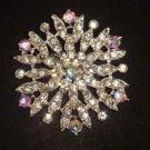 Bridal Vintage Style bling Rhinestone Brooch pin Pi446