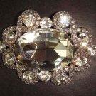 Bridal oval Crystal Rhinestone Brooch pin PI279